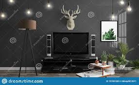100 Zen Style Living Room Mock Up Smart Tv Mockup On The Cabinet Decor Modern