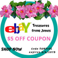 This Is A EBay Coupon From Treasures From Jones. This Coupon ...