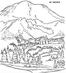 Mount Rainier Coloring Page