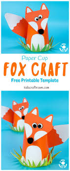 CUTE PAPER CUP FOX CRAFT FOR KIDS Fox Crafts Are So Fun And This Paper
