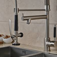Bar Faucet Brushed Nickel by Senlesen Single Handle Pull Down Kitchen Sink Faucet Commercial