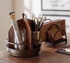printer s home office desk accessories pottery barn