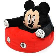 Minnie Mouse Flip Open Sofa Bed by Mickey Mouse Character Figural Toddler Bean Chair Walmart Com