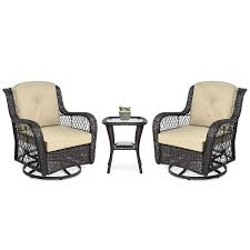 Best Choice Products 3-Piece Patio Wicker Bistro Furniture Set W/ 2  Cushioned Swivel Rocking Chairs, Side Table - Beige Generations Outdoor Wicker Swivel Rocker Ding Armchair Astoria Glider Summer Classics Fniture Elegant Bamboo Fniture Java Handmade Design Hanover Orleans Rocking Chair Set Of 2 In Lazboy Breckenridge Resin Piece Patio Brick Red With All Weather Sunbrella Cushions 3piece Allweather Chat Sahara Sand Waverly Yabird Lloyd Flanders Contempo Recliner Corvus Eolie 3piece Side Table Severn Lounge Sunbrite Sonoma Goods For Life Presidio