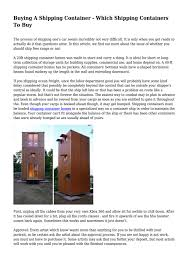100 Buying Shipping Containers For Home Building A Container Which To