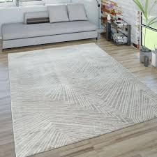 kurzflor wohnzimmer teppich 3 d zick zack muster grau