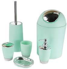 6 tlg badset bad accessoires badezimmer set seifenspender halter badgarnitur mintgrün