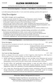 Security Officer Resume Example For Law Enforcement Professional With Qualifications Private Investigator And Corporate