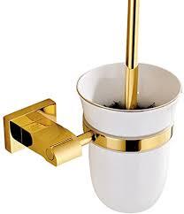 weare home poliert gold finished design modern luxus deko badezimmer accessoires wandhalterung wandmontag bohren messing toilettenbürstenhalter mit