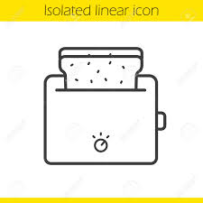 Toaster Linear Icon Thin Line Illustration Toasted Bread Contour Symbol Vector Isolated Outline
