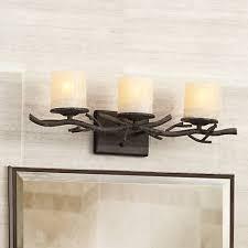 rustic twig 25 wide bathroom wall light 67409 ls plus