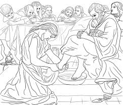 Click To See Printable Version Of Christ Washing Peters Feet Coloring Page
