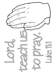 Lord Teach Us To Pray Luke Coloring Page Praying Hands