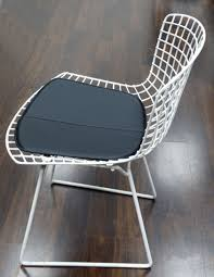 Bertoia Side Chair Pad - Black Vinyl. Custom Made And Sold ...
