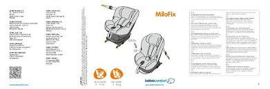 siege milofix bebe confort notice bebe confort siège auto groupe 0 1 milofix mode d emploi