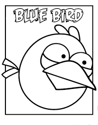 Blue Bird Of Angry Birds Coloring Pages