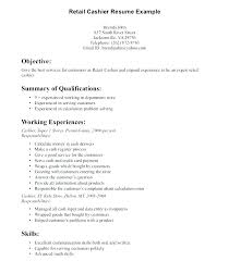 Retail Resumes Samples Cashier Resume Sample Sales Customer Service Objective And Pertaining For Jobs Good Examples