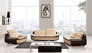 Modern Leather Sofa Set Anabelle Slick Furniture line Store