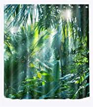 lb grün wald duschvorhang 150x180cm tropischer dschungel