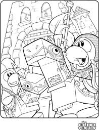 On Club Penguin Community Coloring Pages You Can Find A Medieval Picture COOL Time To Add Colors And Glitter Glue