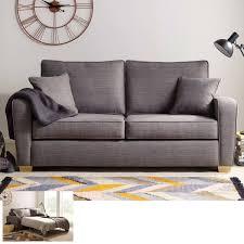 Las Vegas 2 Seater Fabric Sofa Bed With Foam Mattress Grey Costco UK
