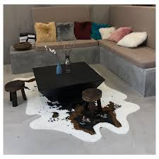 kuh stil teppiche für wohnzimmer schlafzimmer imitation leder mode bereich teppiche matte tür matte tier druck teppich wohnkultur
