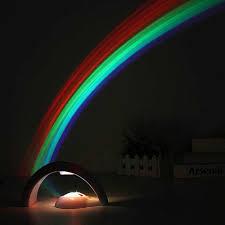 regenbogen projektor licht bunte led nacht lichter kreative