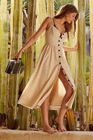 UO Abbie Eyelet Button Down Dress