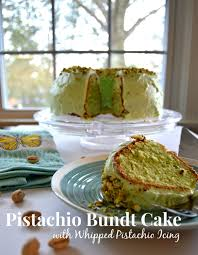 Pistachio Bundt Cake with Whipped Pistachio Icing Rachel & Her