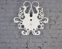 Image Of Decorative Contemporary Wall Clocks White