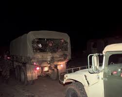 100 Nation Trucks FileVolunteers From The Oklahoma Guard Are Trucked In With