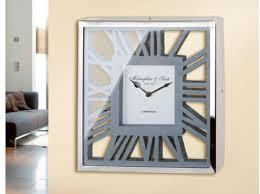 gilde wanduhr uhr gris eckig römische ziffern ideal im esszimmer wohnzimmer grau wanduhren uhren wohnaccessoires