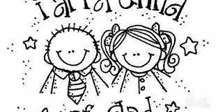 Kids I Am A Child Of God Coloring Page Can Strengthen My Family Pertaining To