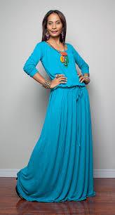 light turquoise aqua maxi dress long sleeve dress on luulla