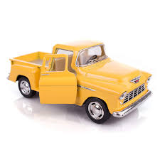 100 Stepside Trucks Amazoncom Yellow 1955 Chevy PickUp Die Cast Collectible