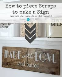 How To Piece Scraps Make A Sign MyLove2Create