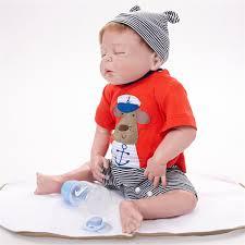22 Inch Handmade Vinyl Silicone Reborn Baby Dolls Lifelike Toddler