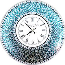 Silver Wall Clock Design 30 Inch Red Small Large