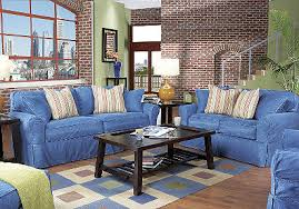 Cindy Crawford White Denim Sofa by This Is My Living Room Set Except I Have Thw Red Cream Chair With