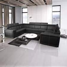 canapé d angle 9 places canapé d angle fixe design en tissu gris pu noir alamak black