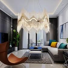 großhandel luxus moderne kristall kronleuchter gold hängend wohn esszimmer beleuchtungskörper luxus led lustres de cristal 100 240v ups
