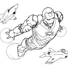 Iron Man Coloring Book Pages