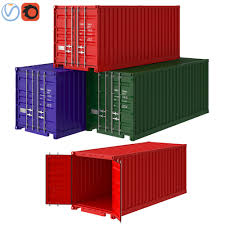 100 Shipping Container Model 3D Model