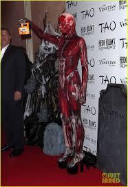 Halloween Heidi Klum 2010 by Heidi Klum Doa Bloody Human Muscle Tissue And Veins Costume