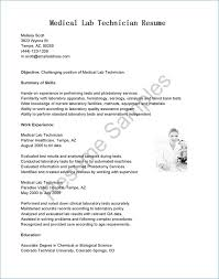 Cover Letter Examples Science Lab Technician Resume Sample