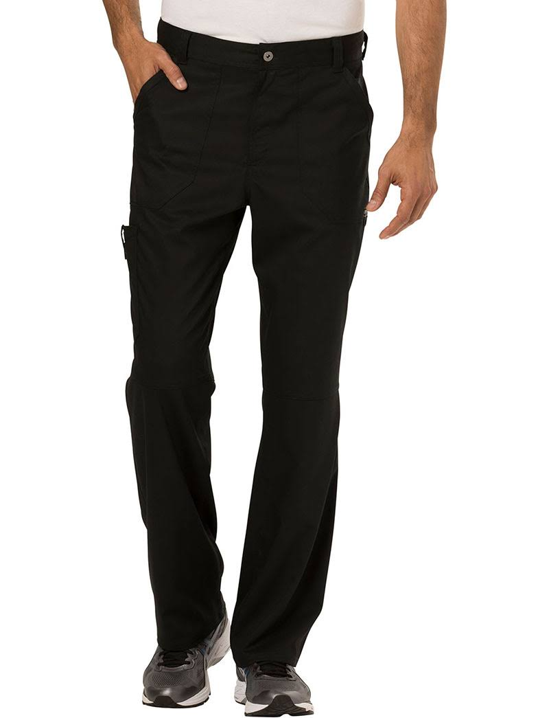 Cherokee Workwear Revolution Men's Fly Front Pant - Black (S)
