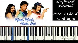 kuch kuch hota hai keyboard tutorial with notes chords bgms g major scale supreet cb