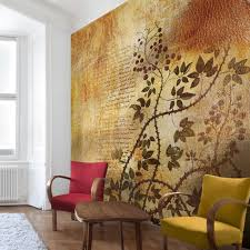 design tapete vlies fototapete für wohnzimmer blumen blüten