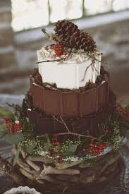 Cake Love A Rustic Wintery Woodland Wedding Of Chocolate