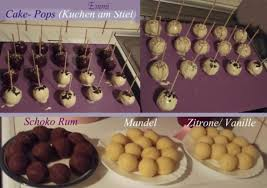 cake pops mandel kuchen am stiel grundrezept für backblech